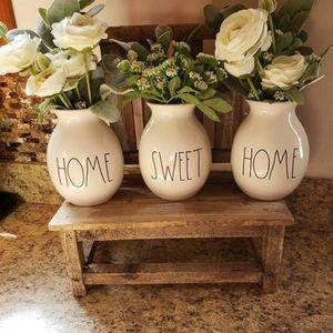 Rae Dunn home sweet home bud vases